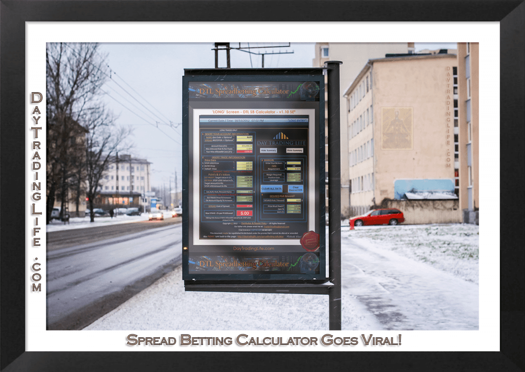 Spread Betting Calculator Advertising Board
