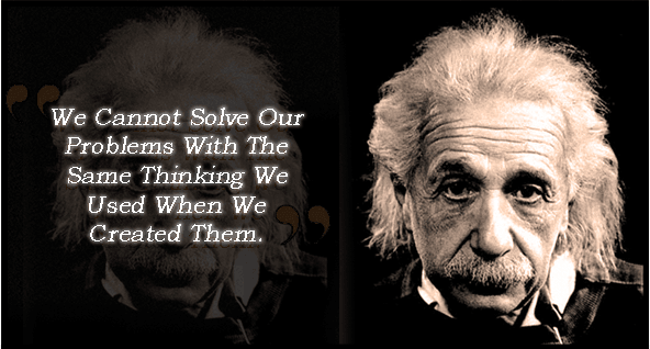 Einstein Solving Problems Quotation