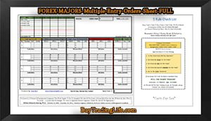 FOREX-MAJORS - 'Multiple' Entry Orders Sheet-FULL-sm